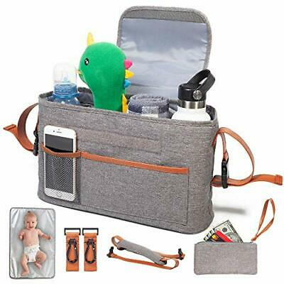 Yourscent Baby Stroller Organizer with Cup Holders Insulated, Waterproof Premium
