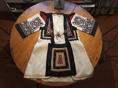 Antique Greek Macedonian Woman Folk Embroidered Coat/Vest, Sleeves, Apron