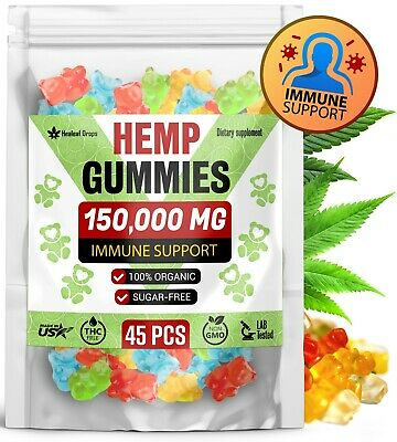 150,000 MG Hemp Gummies for Pain & Anxiety - Immune System Booster