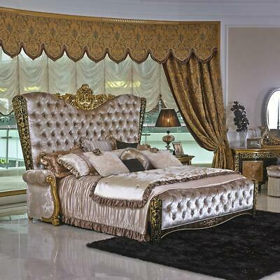 Double Bed Design Luxury Beds Baroque Rococo Antique Style E61