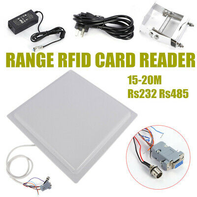 NEW 15M UHF RFID Long Range integrated Reader Parking Access Control RS232/RS485