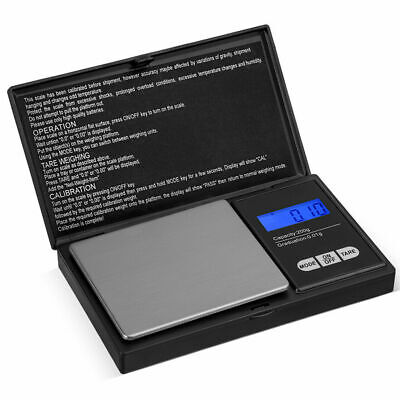 200g 0.01 Digital Mini Pocket Weighing Scales Gold Kitchen Jewellery Scale Herbs