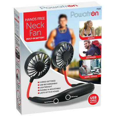 Sports Neck-Mounted Fan Multi-Blade USB Rechargeable Mini Air Cooler Sports Run