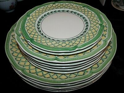 12 pc Villeroy & Boch French Garden Orange Country Collection Dinner Salad Bread