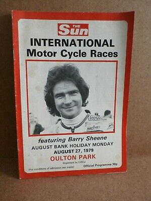 Oulton Park international motorcycle races featuring Barry Sheene 1979 programme