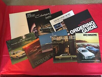 LOT 10--1971-1979 Olds Chevy Buick Lincoln Mercury Ford Pontiac Dodge Brochures