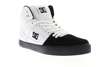 DC Pure High Top WC ADYS400043 Mens White Suede & Canvas Athletic Skate Shoes