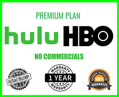Hulu Premium Account | No Ads + HBO | 1 Year Warranty | 30s Delivery