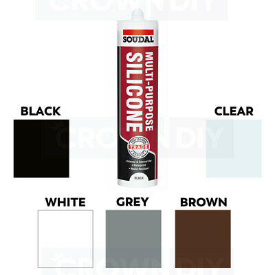 General Purpose Silicone Sealant Waterproof - Clear - White - Brown - Black