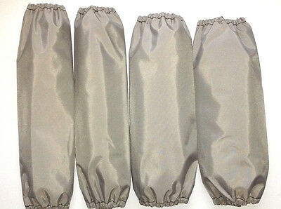 Shock Covers Dirt Late Model Silver Set 4
