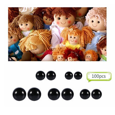 100pcs 6-12mm Plastic Safety Eyes for Teddy Bears Soft Animal Toys Kid DIY Craft