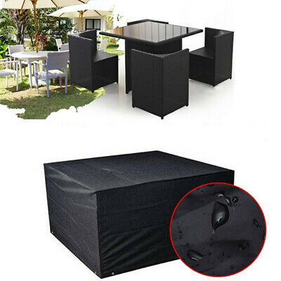Garden Furniture Cover 4 Seater Rattan Table Chair Set Square Cube Protection UK