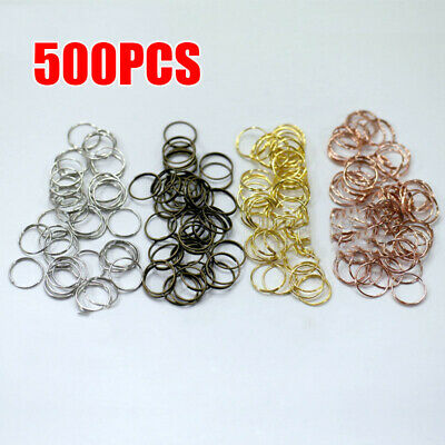 500x Gold Stainless Steel Ring Connector For Chandelier Lamp Light Crystal Parts
