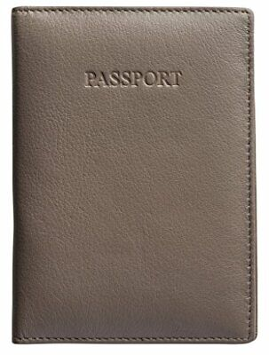 NEW Visconti Rfid Blocking Leather Passport Wallet - Taupe