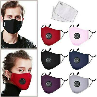 PM2.5 Reusable Face Mask with Filters Valved Face Mask + Filters