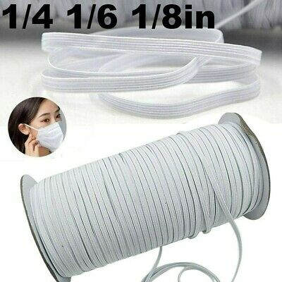 50/100M Length DIY Braided Elastic Band Cord Knit Band Sewing 3 6mm Width Ceng