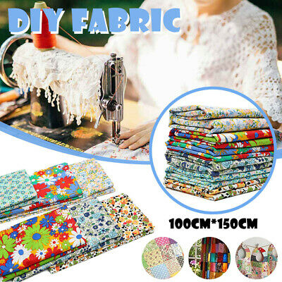 100% Cotton Floral Fabric Fat Quarter Bundle Craft Quilting Sewing Patchwork Cen