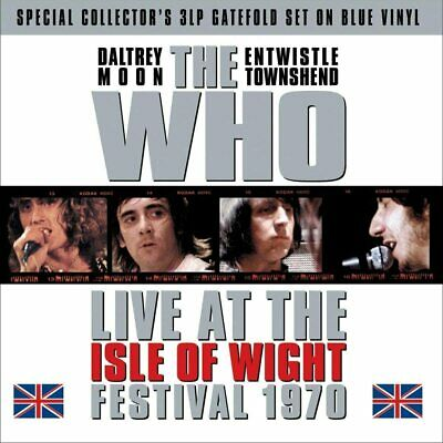 The Who - Live At The Isle Of Wight Festival 1970 (180g Blue Vinyl 3LP) NEW