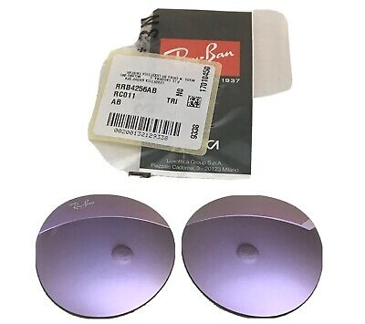 Authentic RAY BAN RB4256 New Gatsby 49mm Round Lilac Gradient Replacement Lens