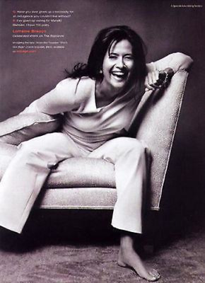 Lorraine Bracco Actress Sopranos 2000 Indulge Fashions Photo Ad