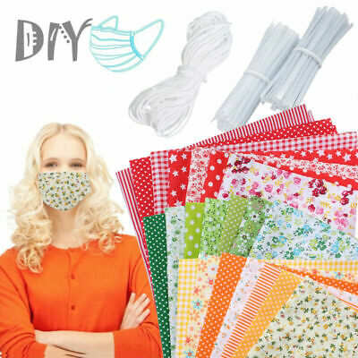 7/21PCS Mixed 100% Cotton Fabric Material Bundle Quilting Scraps Offcuts Fabric