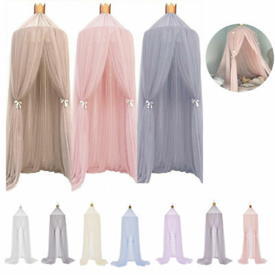 Baby Kids Princess Bed Canopy Bedcover Mosquito Net Curtain Bedding Dome Tent
