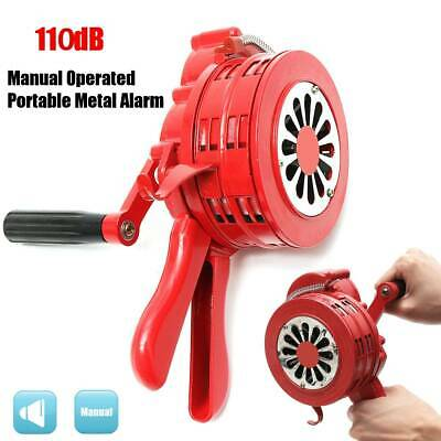 Manual Handheld Crank Air Raid Alarm Hand Operated Safety Fire Emergency Siren