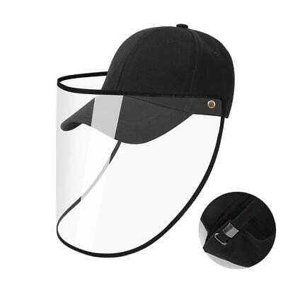 Black Safety Face Shield Protective Hat Outdoor Baseball Cap Anti Spitting US