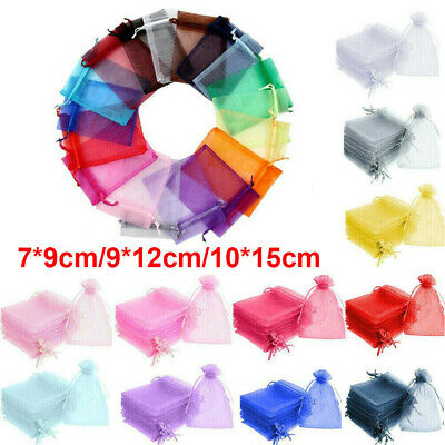 Luxury Organza Gift Bags Wedding Party Favour Candy Jewellery Pouch Large Small