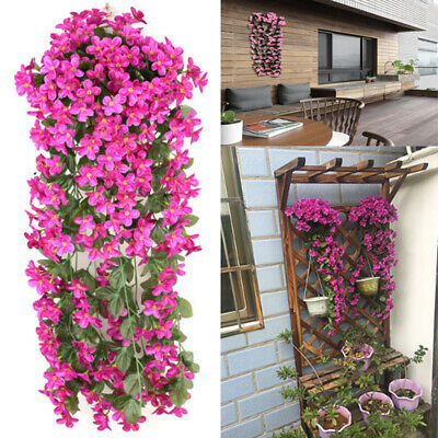 Artifical Fake Flowers Ivy Vine Hanging Garland Plant Wedding Home Decor LY
