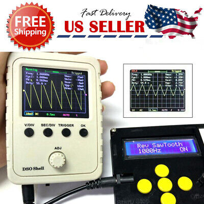 """2.4"""" LCD Display DSO150 Welded Assembled Digital Oscilloscope w/ Case Test Clip"""