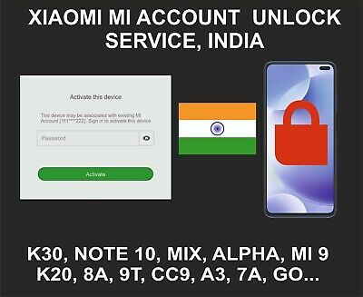 Xiaomi Mi Account Unlock Service, All Models, Middle East Account Devices Only
