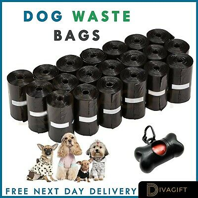 Dog Poo Bags Waste Strong Biodegradable