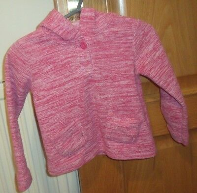 Pink Hooded Jacket with front opening by Indigo M & S size 4 - 5 years
