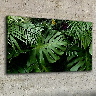 Canvas Print 100x50 Tropical Jungle Leaves Picture Wall Art Framed Decor