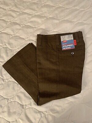 Vtg 60s 70s Levi's NOS NWT Flat Front Rayon Blend Pants Flare Kids 6 25 X 18.5