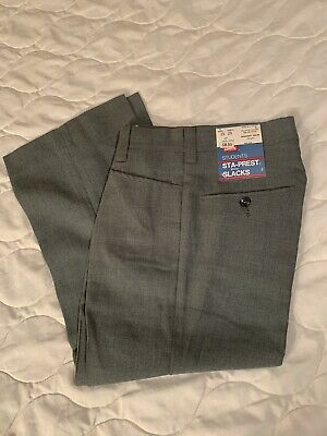 Vtg 60s 70s Levi's NOS NWT Flat Front Rayon Blend Pants Flare Student 25 X 20