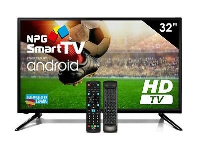 """Televisor 32"""" LED NPG Smart TV Android HD + Control Remoto QWERTY Motion. TDT2"""