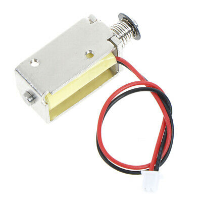 12V DC suction micro electromagnet spring push pull type rod solenoid magnet-RC