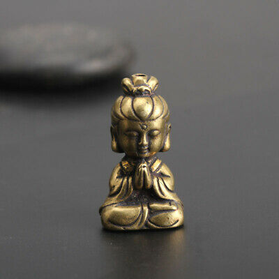 Chinese old Antique Collectible Brass girl hand piece Exquisite Pendant