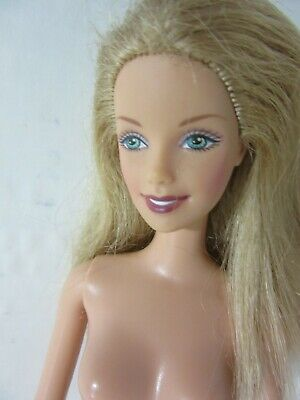 Blond Barbie belly button body nude - AW