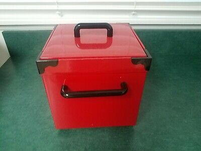 Georges Briard Red Mid Century Modern Ice Bucket Made in Japan Liner George