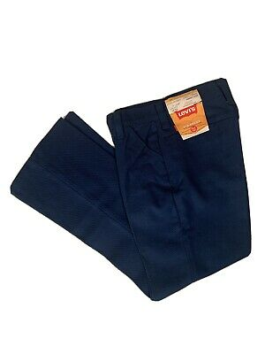 Vtg 60s 70s NOS NWT Levi's Blue Twill Bell Bottom Pants Flare Youth Slim 11