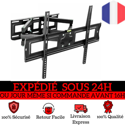 """Support TV mural muraux orientable et inclinable LCD 3D LED 32"""" - 65 """" 80-163 cm"""