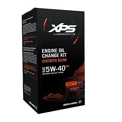 Sea-Doo 4T 5W-40 Synthetic Blend Oil Change Kit Rotax 900 Ace Engines - 779250
