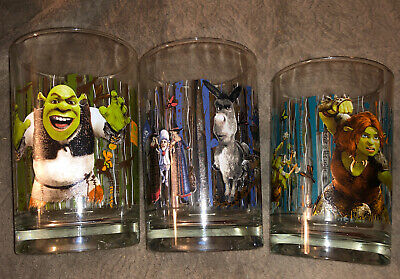 Lot of (3) 2010 McDonald's DreamWorks Shrek Forever After.