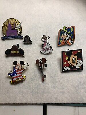 Disney Pins 8 Different Mixed Lot Fastest Shipper Usa Seller