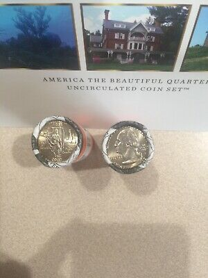 2003 Illinois Two Rolls Of Beautiful Uncirculated Quarter P&D