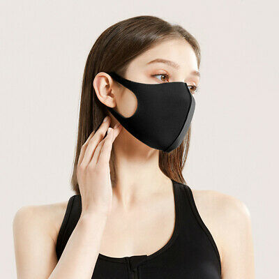 3 PCS Washable Reusable Anti Air Pollution Face Cover Mouth Muffle Breathable