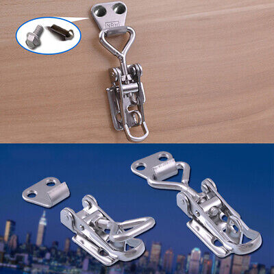Box Adjustable Catch Hasp Toggle Lock Trunk Latch Stainless Steel Spring Loaded